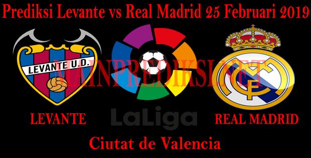 Prediksi Levante vs Real Madrid 25 Februari 2019