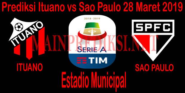 Prediksi Bola Ituano vs Sao Paulo 28 Maret 2019