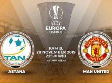 Prediksi Parlay Terbaik Astana vs Manchester United 28 November 2019
