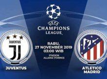 Prediksi Parlay Terbaik Juventus vs Atletico Madrid 27 November 2019