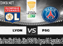 Main Prediksi Bola Jitu PSG Vs Lyon 01 Agustus 2020