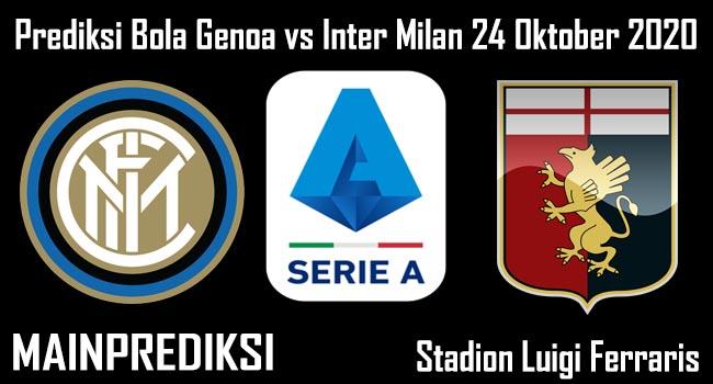 Prediksi Bola Genoa vs Inter Milan 24 Oktober 2020