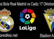 Prediksi Bola Real Madrid vs Cadiz 17 Oktober 2020
