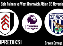 Prediksi Bola Fulham vs West Bromwich Albion 03 November 2020