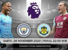 Prediksi Bola Manchester City VS Burnley 28 November 2020