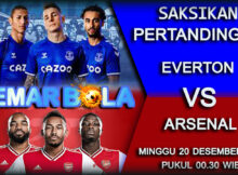 MAIN PREDIKSI EVERTON VS ARSENAL 20 DESEMBER 2020