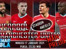 Main prediksi Liverpool vs Manchester United 17 Januari 2021