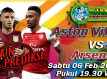 Main prediksi Aston Villa vs Arsenal Sabtu 06 Februari 2021