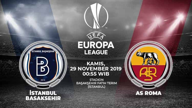 Prediksi Parlay Terbaik Istanbul Basaksehir vs AS Roma 29 November 2019