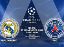 Prediksi Parlay Terbaik Real Madrid vs PSG 27 November 2019