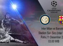 Prediksi Parlay Terbaik Inter Milan vs Barcelona 11 Desember 2019