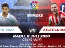 Prediksi Skor Akurat Celta Vigo Vs Atletico Madrid 08 Juli 2020