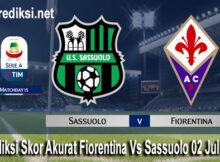 Prediksi Skor Akurat Fiorentina Vs Sassuolo 02 Juli 2020