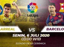 Prediksi Skor Akurat Villarreal Vs Barcelona 06 Juli 2020