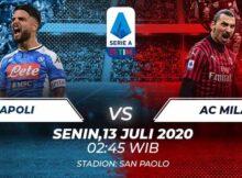 Prediksi Bola Jitu Napoli Vs AC Milan 13 Juli 2020