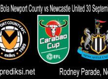 Prediksi Bola Newport County vs Newcastle United 30 September 2020