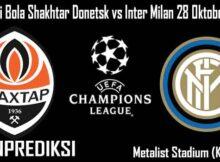 Prediksi Bola Shakhtar Donetsk vs Inter Milan 28 Oktober 2020