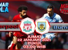 Main prediksi Liverpool vs Burnley Jumat 22 Januari 2021